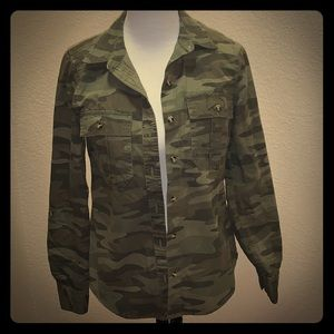 Forever 21 Army Button Up